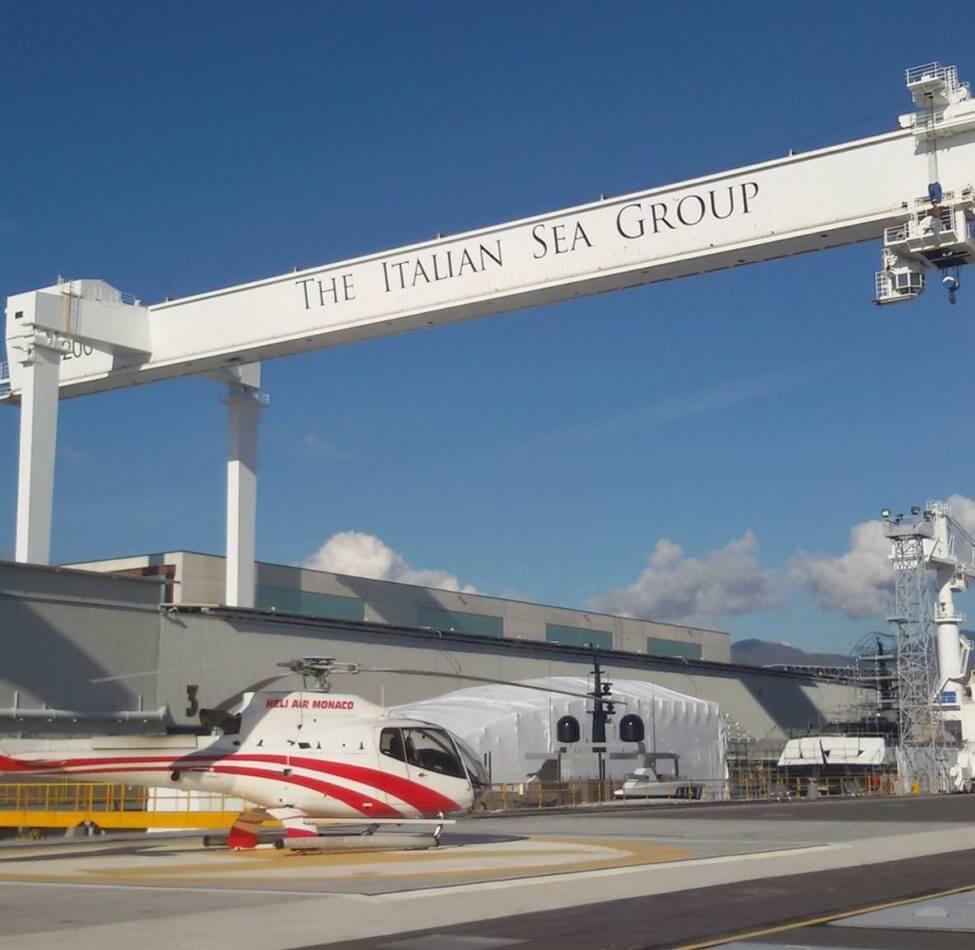 Pista di atterraggio elicotteri Italian Sea Group